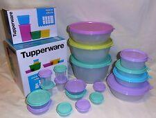 TUPPERWARE MODULAR MATES ROUND BOWL SET &  PETITE SET RRP $142 (pastel colours!)