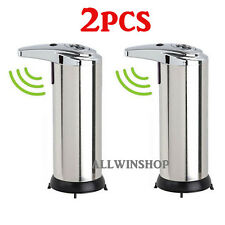 2X Stainless Steel Hands Free Automatic IR Sensor Touchless Soap Dispenser 280ml