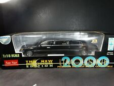 Sun Star 2000 Lincoln Town Car Limousine 1:18 Scale Diecast Model Party Limo