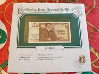 World Banknotes Iceland 50 Kronur 1961 (1981) P49a UNC  signature 39 prefix B