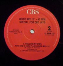 "Rolling Stones ""Rock And A Hard Place (Dance Mix)"" 12"" CBS 12 PRM 137 italy 1989"