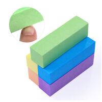 10Pcs Colorful Sanding Sponge Nail Buffers Files Block Grinding Polishing Tools