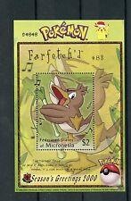 Micronesia 2000 MNH Pokemon #83 Farfetch'd Seasons Greetings 1v S/S Stamps