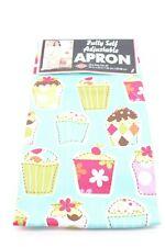 NEW Ritz Cupcake Print Apron Fully Self Adjustable Cotton 26 x 33