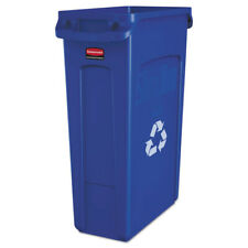 Rubbermaid Recycling Container W/vent Channels Plastic 23gal Blue 354007BE NEW