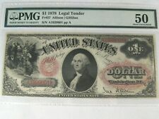 AU 1878 $1 Legal Tender Fr #27. PMG AU50 (w/ Closed Pinholes?)  #103