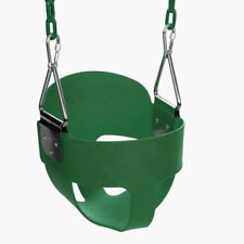 Full Bucket Swing Set for Toddler Baby Seat Playground Outdoors Play Fun Green