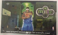 2003-04 Topps Rookie Matrix Basketball Factory Hobby Box.