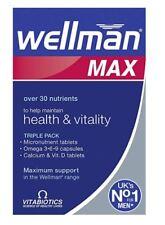 Vitabiotics Wellman Max Health & Vitality Omega & Calcium 84 Tablets Vit. D