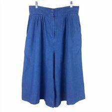 VINTAGE Rockmount Ranch Wear Denim Culottes Womens 32 High Rise Wide Leg Jeans