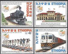 Ethiopie 1998 trains/train/chemin de fer/moteur à vapeur/locomotive/Transport 4 V Set n42824