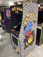 New Diamond Plated PacMan Arcade Machine, Upgraded 412 Games!!