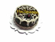 Chocolate Halloween Cake Spider Dollhouse Miniature Food Bakery Holiday Season11