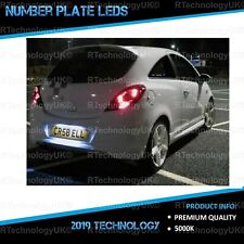 PREMIUM VAUXHALL OPEL CORSA D VXR 06-14 Xenon White LED Number Plate Light Bulbs