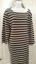 New Gap Maternity Striped Dress Size XXL  ..3/4 sleeve Gray Navy Blue Dress