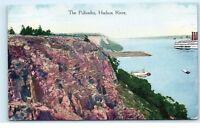 *The Palisades Mountains Hudson River New Jersey NJ Vintage Postcard C88