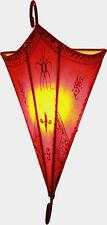 Plain Marroquí Henna Lámpara de pared Sombra-Triángulo de Hierro Forjado-Rojo 30 Cm