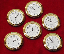 Seiko Mini Insert Clock Movement LOT OF 6 NEW Quartz Battery Fit Up 1 7/16""