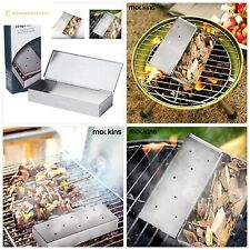 Mockins Stainless Steel BBQ Smoker Box for Grilling Barbecue Wood Chips On Gas G