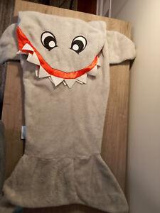 Snuggie Shark Tail Soft Fleece Blanket Child Snuggle-in Sleeping Bag Gift