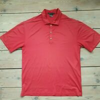 Mens Nike Fit Dry Tiger Woods Platinum Polo Shirt Top Golf Medium Red