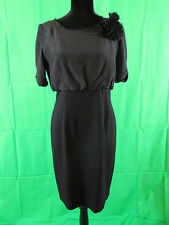 Eliza J Size 6 Black Dress with Flower