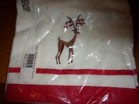roxy reindeer accent towels christmas holiday new 70091 linens