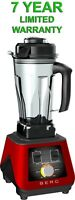 BERG 1500W 2HP COMMERCIAL POWERFUL FOOD NUTRITION BLENDER SMOOTHIE MAKER - RED