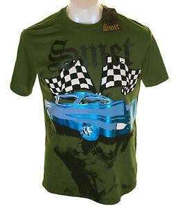 New Authentic Men's Smet Foil Print Cadillac T Shirt Christian Audigier M XXL