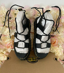 Dr Martens Leather Lace Up Nartilla Sandals, UK 5, BRAND NEW, Discontinued, RARE