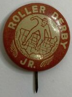 Vintage Roller Derby Jr. Advertising Pinback