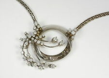 Halsketten und Anhänger im Collier-Stil aus Weißgold mit VS Reinheit sehr gute