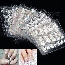 50 stk 3D Nagelsticker Nail Art Tattoo Aufkleber Blumen Muster Nagel Fingernägel