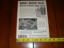 1955 MARVEL MYSTERY OIL ORIGINAL VINTAGE AD