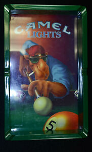 1992 Joe Camel Lights Plastic Cigarette Ashtray Playing Pool Billiards Table