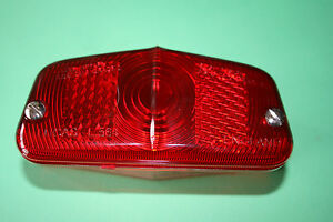GENUINE LUCAS L564 REAR LAMP LENS WITH SCREWS LU573839 TRIUMPH BSA NORTON