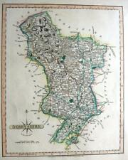 DERBYSHIRE DERBY   BY JOHN CARY GENUINE ANTIQUE ENGRAVED MAP  c1809