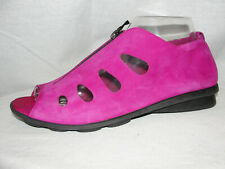 ARCHE Shoes Women's Size 8/39 Fuchsia Art-to-wear Nubuck Leather Cutout Sandals