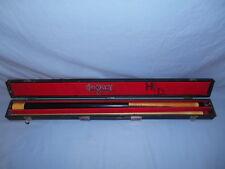 "Vintage Meucci Originals Pool Billiard Cue Stick w/Hard Case 58"" 19 oz"