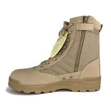 Men Desert Military Tactical Work Boots With Zipper Forced Deployment SWAT Boots