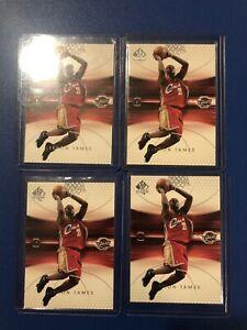 2004-05 Upper Deck SP Authentic #14 LeBron James Lot