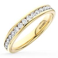 0.35CT Round Brilliant Cut Diamond Half Eternity Wedding Ring in 18K Yellow Gold