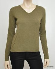 Nwt $298 Ralph Lauren Blue Label Cashmere V-Neck Sweater Pullover Olive Green S