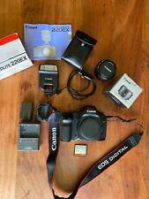 Canon EOS 5D Classic 12.8MP Digital SLR Camera - Black w/50mm lens, flash & More