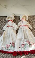 """Vintage Amish Doll Lot Of 2 14"""" Doll 25"""" With Dress"""