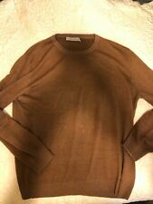 Zegna Cashmere and Silk Sweater - Camel Brown - Size L 52