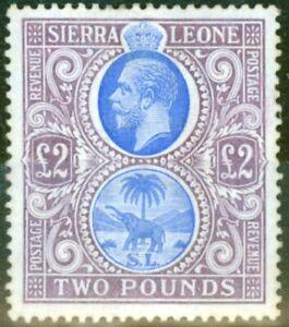 Sierra Leone 1912 Blue & Dull Purple SG129 Fine Lightly Mtd Mint