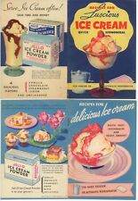 1935-36 Jell-O Ice Cream Powder advertising recipe booklets