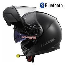 Casco de moto modular LS2 FF325 Strobe Negro mate BLUETOOTH Integrado