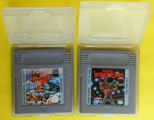 jeu jeux nintendo game boy hal wrestling street fighter II 2 made in japan rare